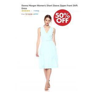 Donna Morgan Short SleeveZipper Front Shift Dress